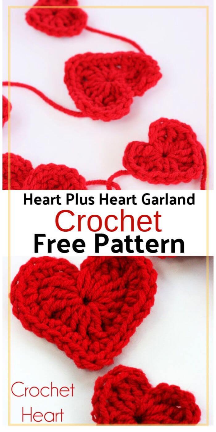 How to Crochet a Heart Plus Heart Garland
