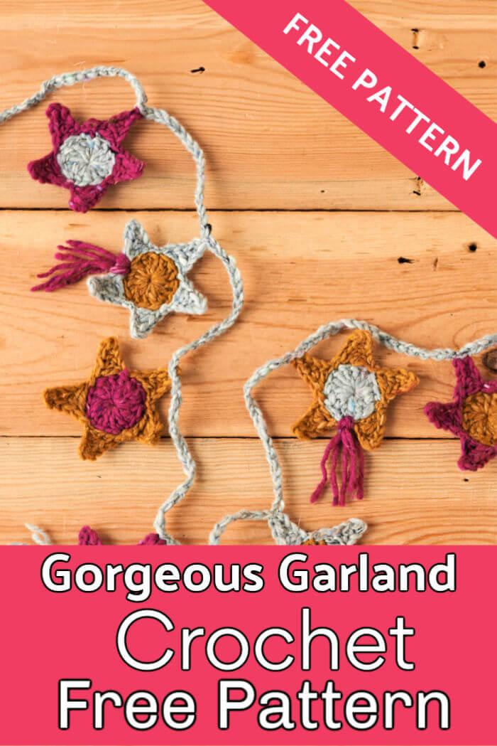 How to Make a Crochet Star Garland