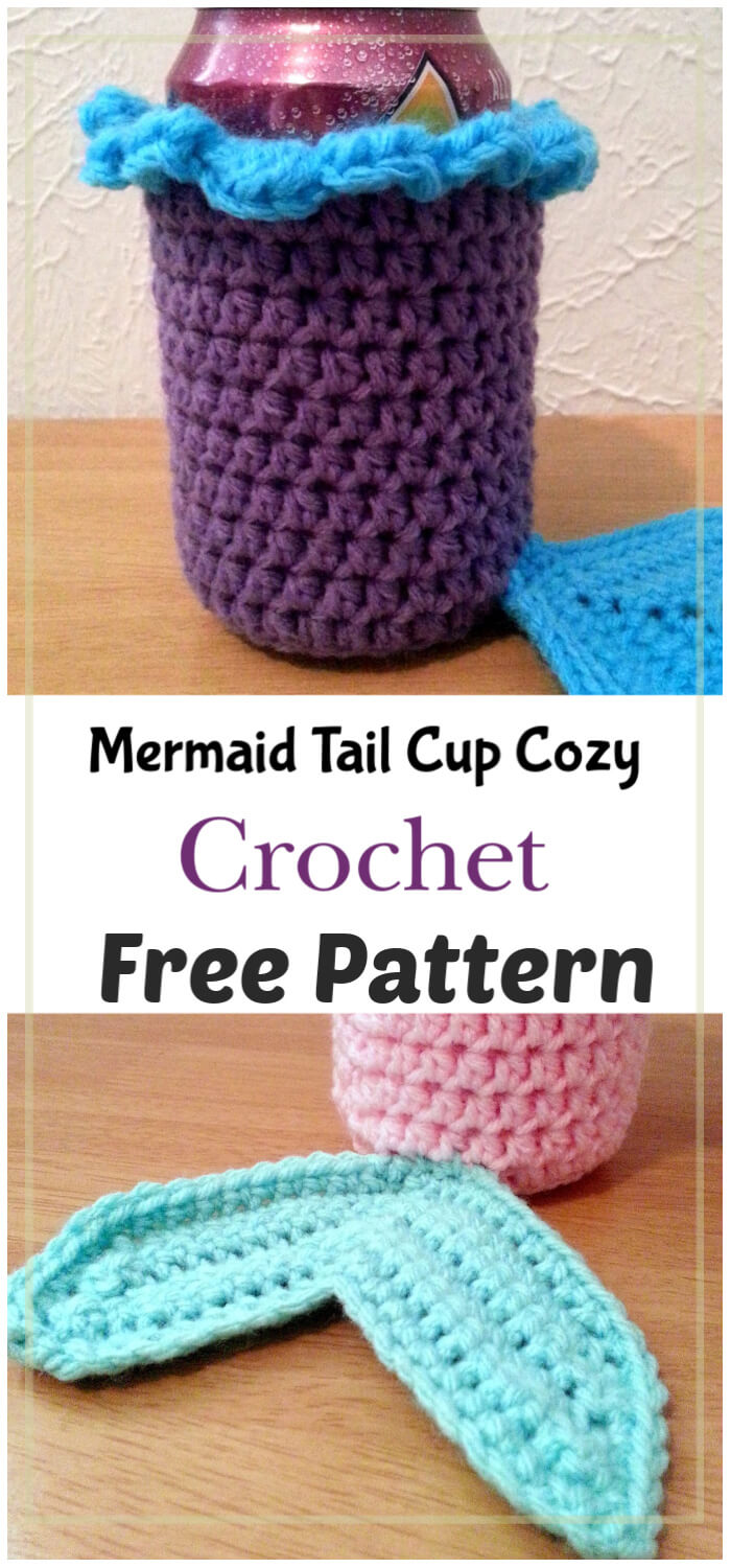 Mermaid Tail Cup Cozy Free Crochet Pattern