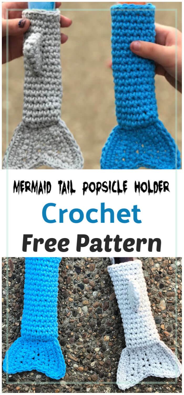 Mermaid Tail Popsicle Holder Free Crochet Pattern