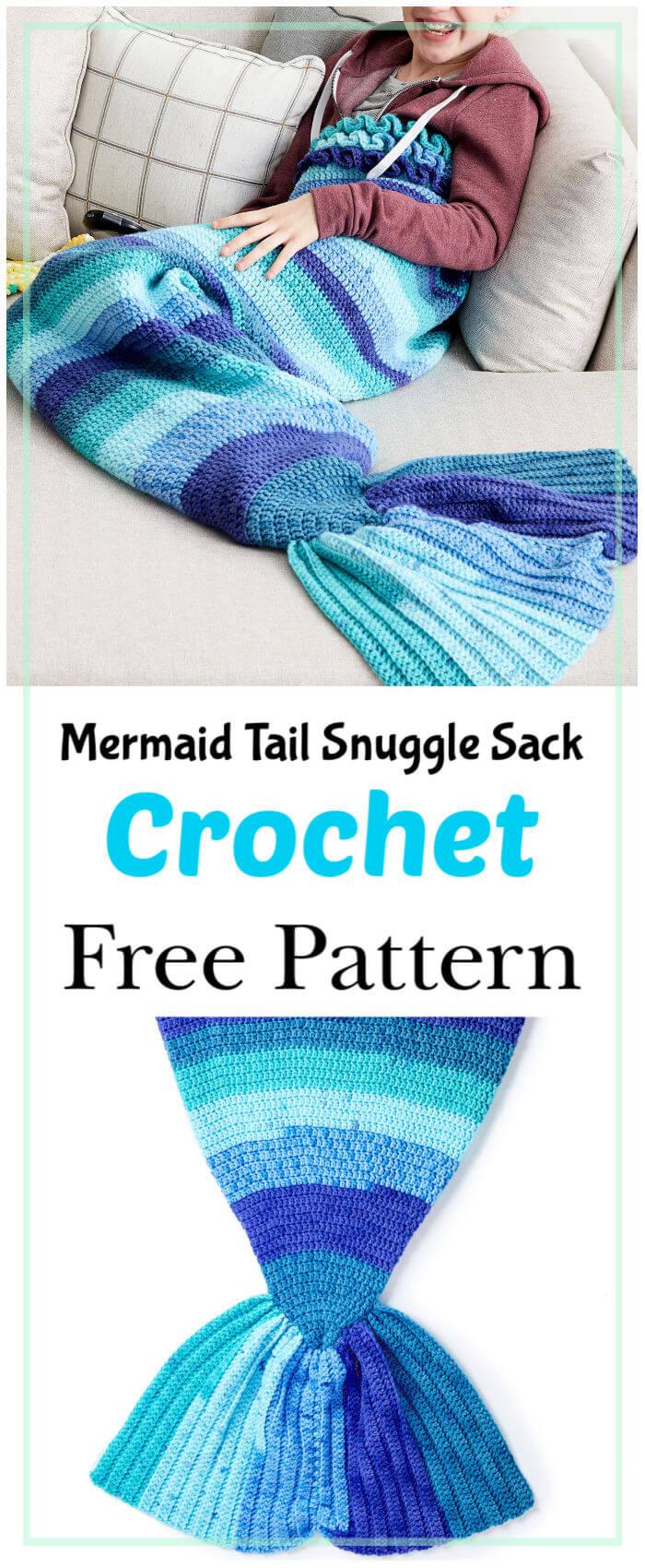 Mermaid Tail Snuggle Sack Free Crochet Pattern