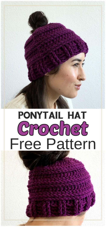 Messy Bun Hat Free Crochet Pattern