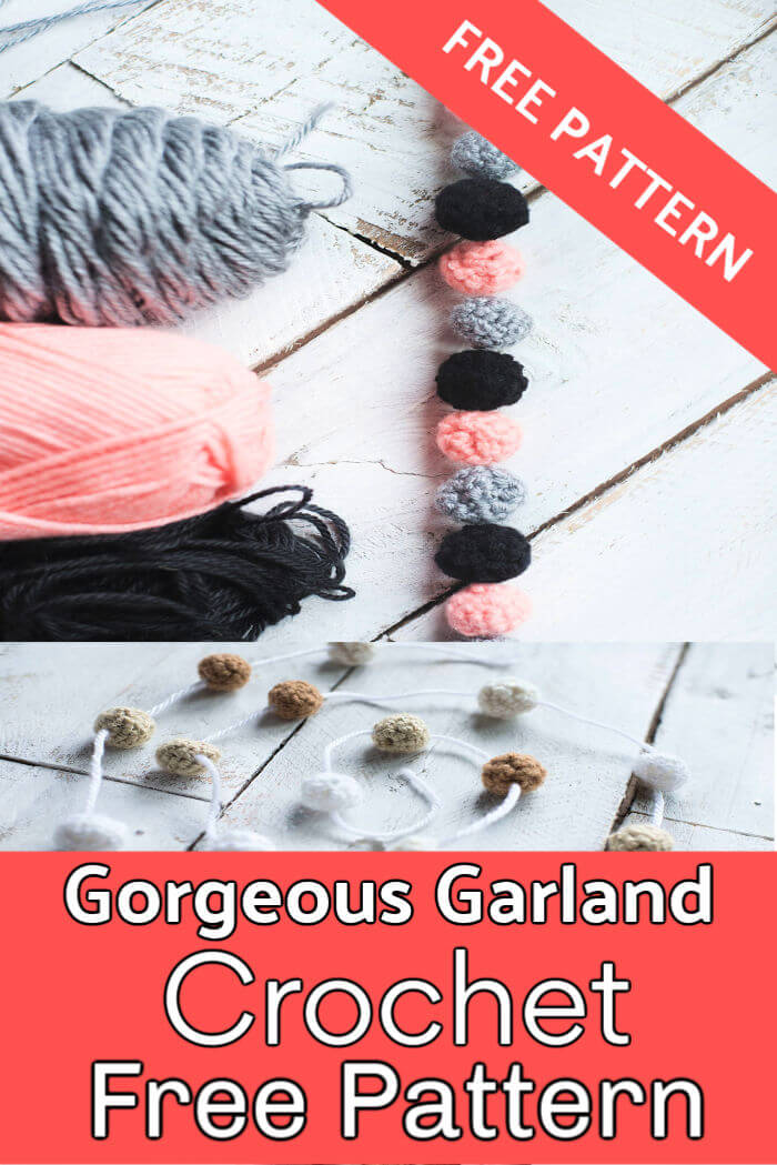 Mini Ball Garland Free Crochet Pattern