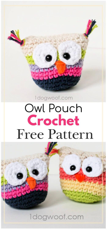 Owl Pouch Free Crochet Pattern