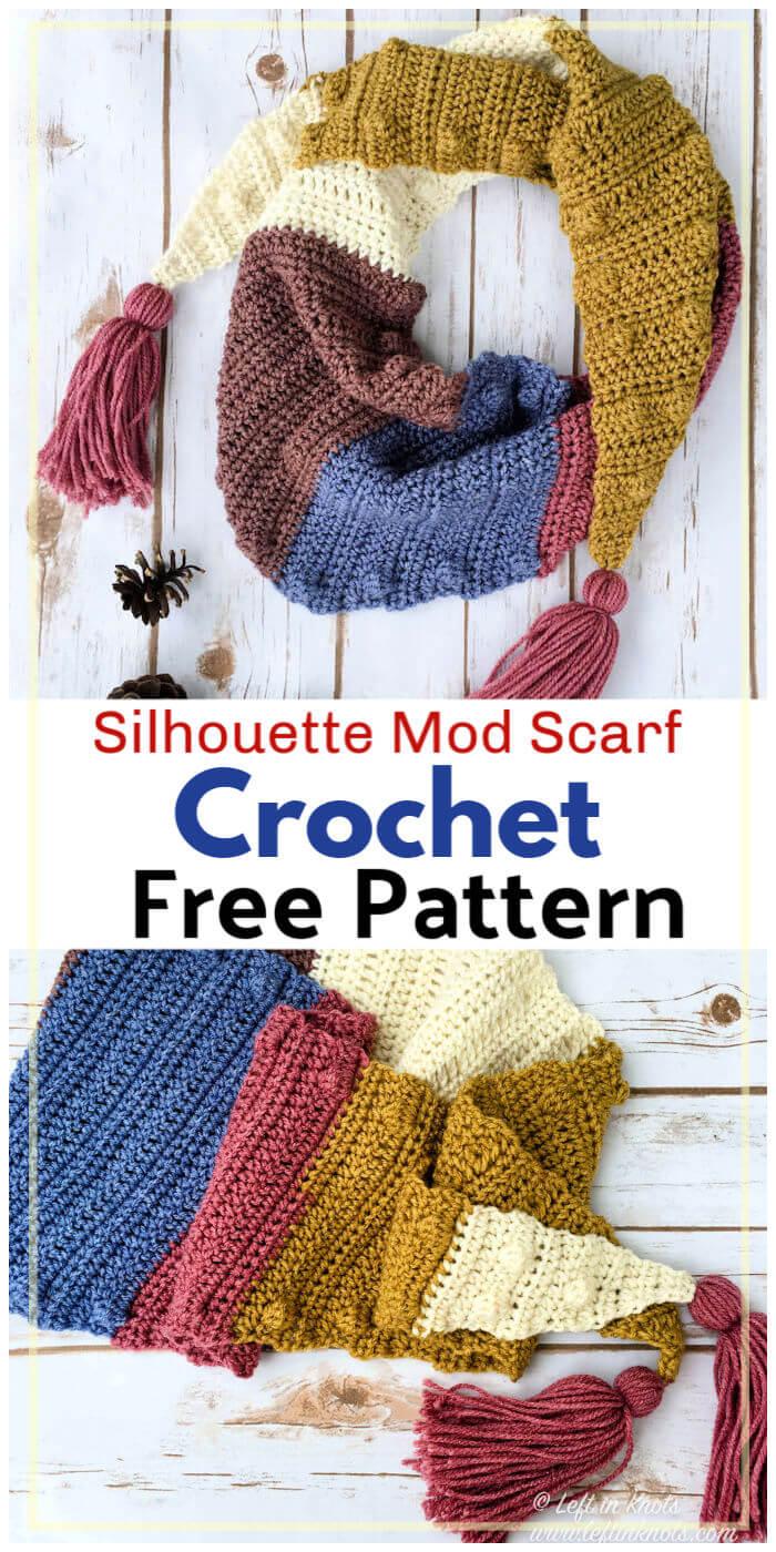 Silhouette Mod Scarf Free Crochet Pattern