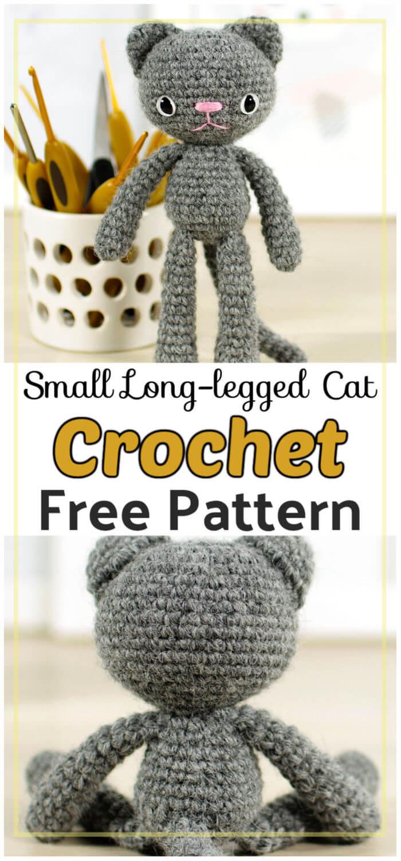 Small Long legged Cat Free Crochet Pattern