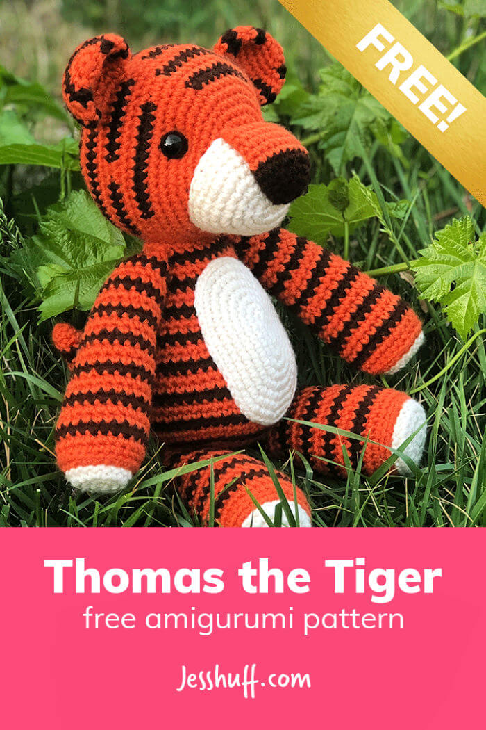 Thomas The Tiger Amigurumi Free Crochet Pattern