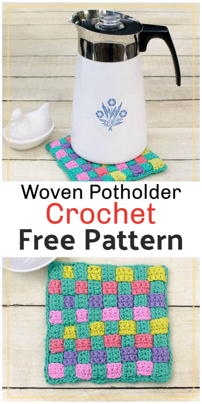 Woven Potholder Free Crochet Pattern